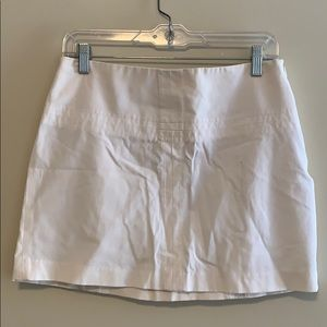 Express white cotton mini skirt